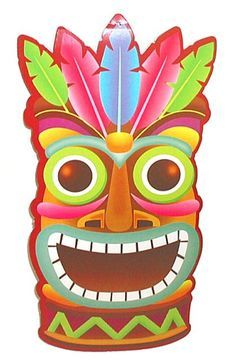 hawaiian tiki clipart luau party pinterest hawaiian tiki rh pinterest com tiki head clipart clipart tiki bar