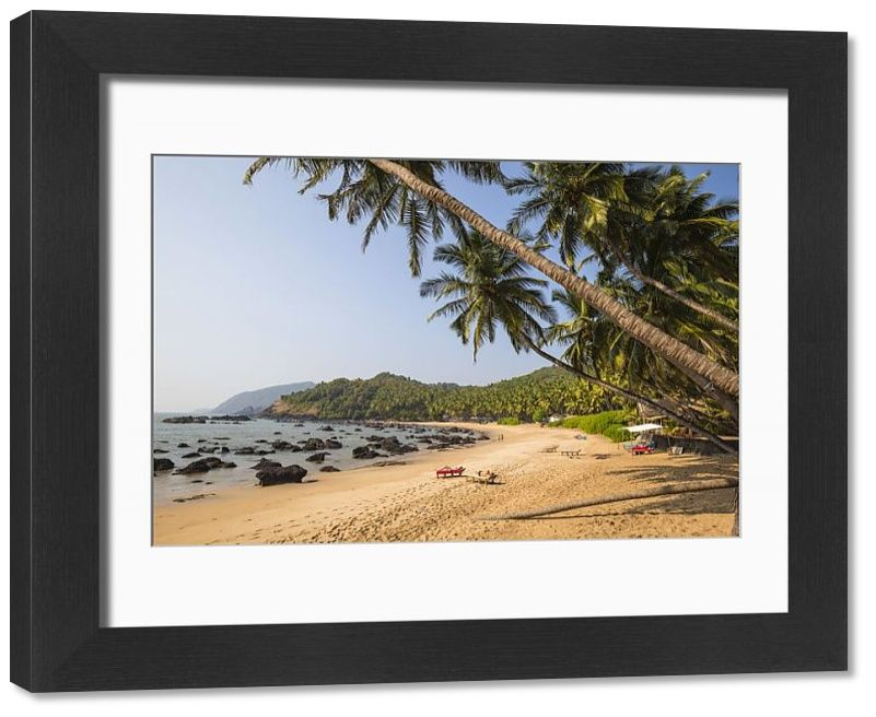 Framed Print India Goa Kakolem beach also known as Tiger beach