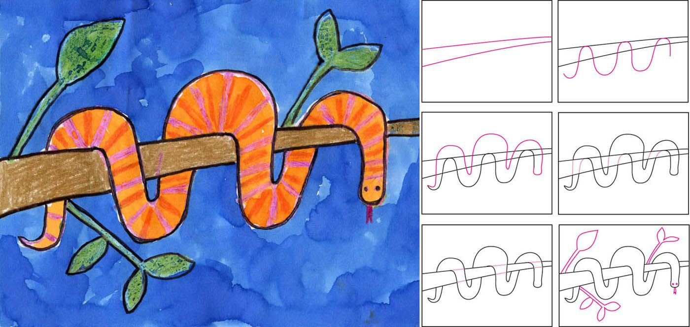 5 How-to-Draw Websites for Kids | Kids wraps, Snake and Wraps