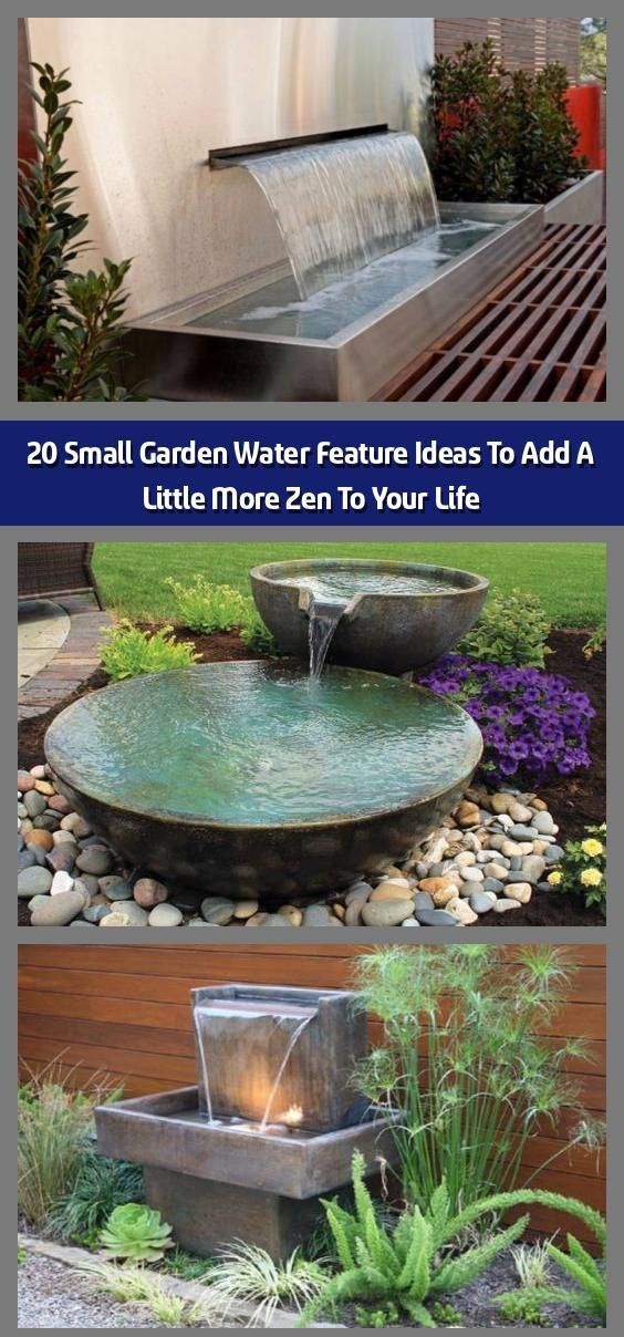 20 Small Garden Water Feature Ideas To Add A Little More ... on Small Backyard Water Features id=16370