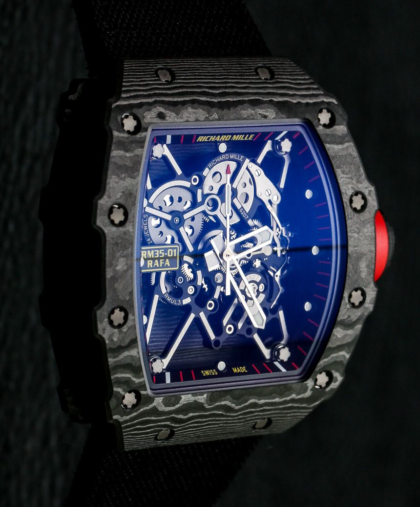Richard Mille Rm 35 01 Rafael Nadal Ntpt Carbon Watch Hands On Ablogtowatch Richard Mille Watches Richard Mille Watches For Men