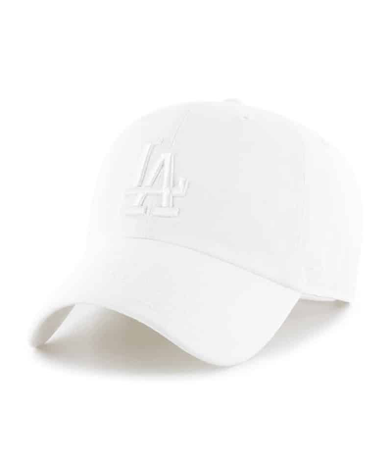 Los Angeles Dodgers 47 Brand All White Clean Up Adjustable Hat La Dodgers Hat 47 Brand Dodgers