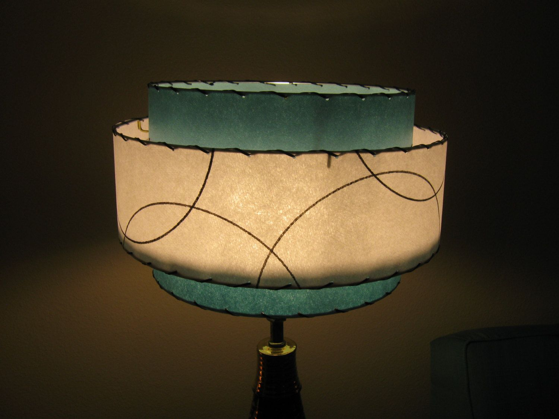 Made to order mid century vintage style 3 tiered fiberglass lamp made to order mid century vintage style 3 tiered fiberglass lamp shade custom retro atomic 8900 via etsy aloadofball Choice Image