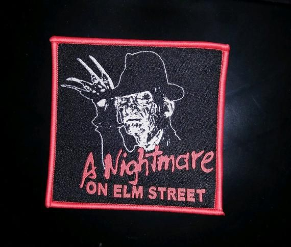 Two iron on patches Friday 13th Jason and Freddy nightmare on elm