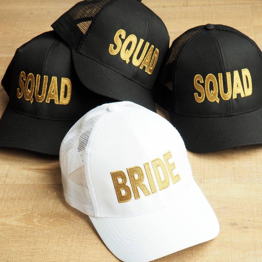 824a6de9fd096 Bride And Squad Baseball Caps