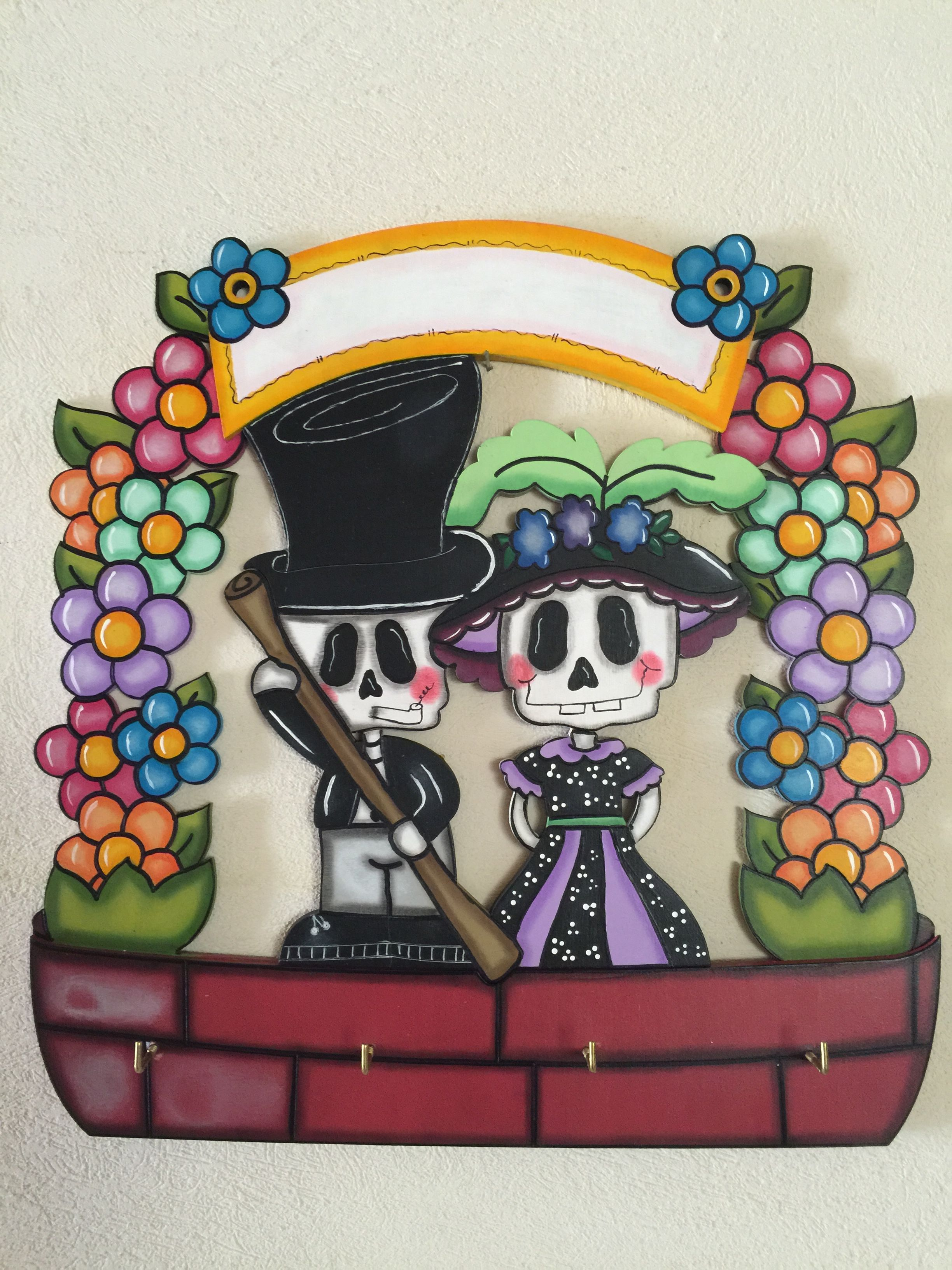 Pin de yessica carapia en madera pinterest d a de for Decoracion de puertas de dia de muertos