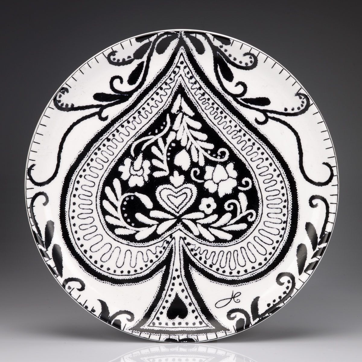 Jan constantine ace of spades collectors plate 2550 httpwww ace of spades cushion jan constantine buycottarizona Images