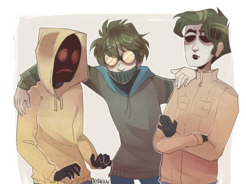 Hoodie, Ticci Toby and Masky   Freaky Noodles~~   Creepy pasta