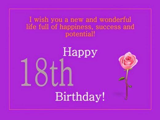 happybirthdaysmsfor18birthday Idear – Birthday Greetings for 18th Birthday