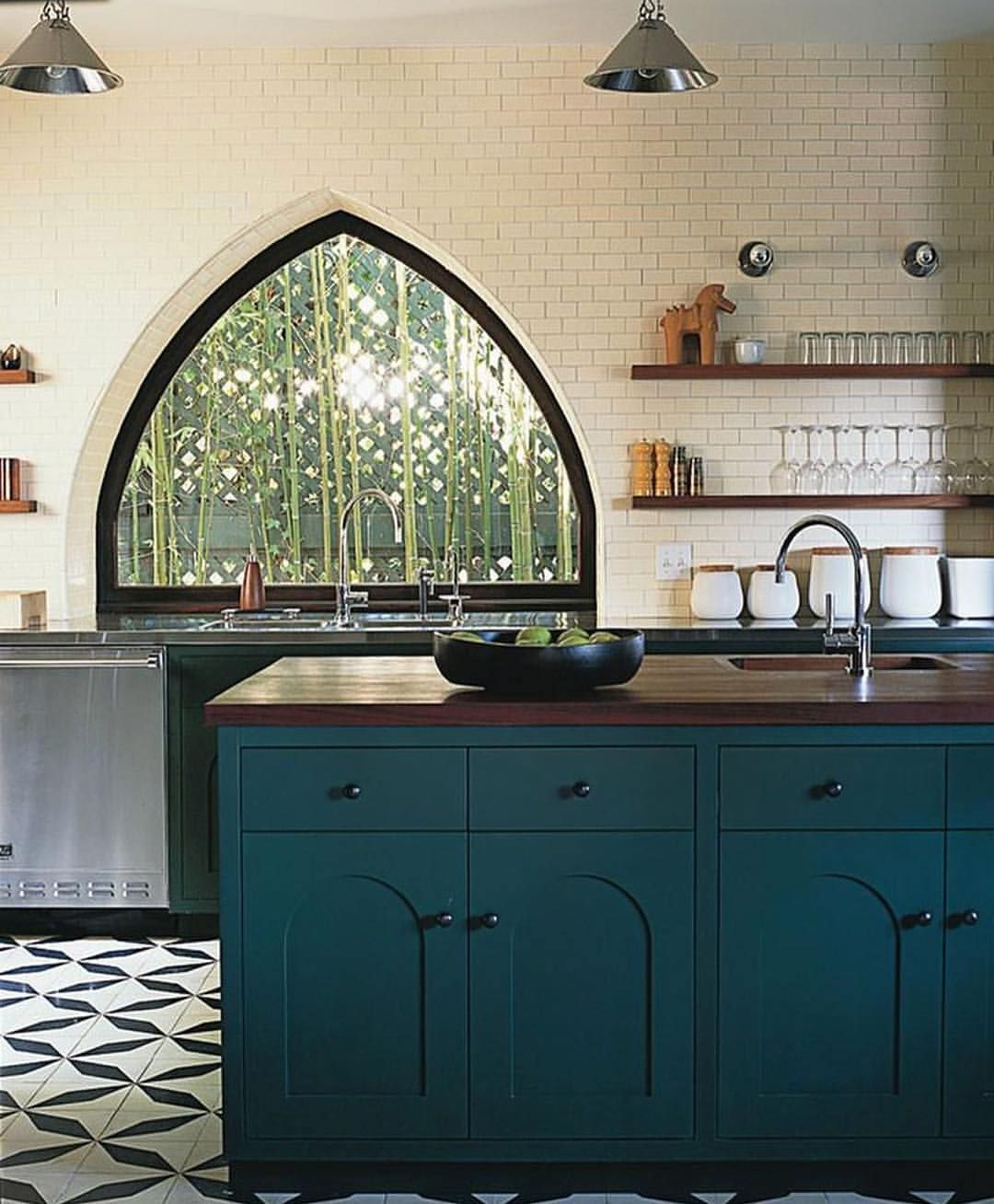 Studio Shamshiri Sur Instagram The Catalina Kitchen Is Now More Than A Decade Old One Of The First Kitchens We Di Teal Kitchen Kitchen Remodel Kitchen Decor