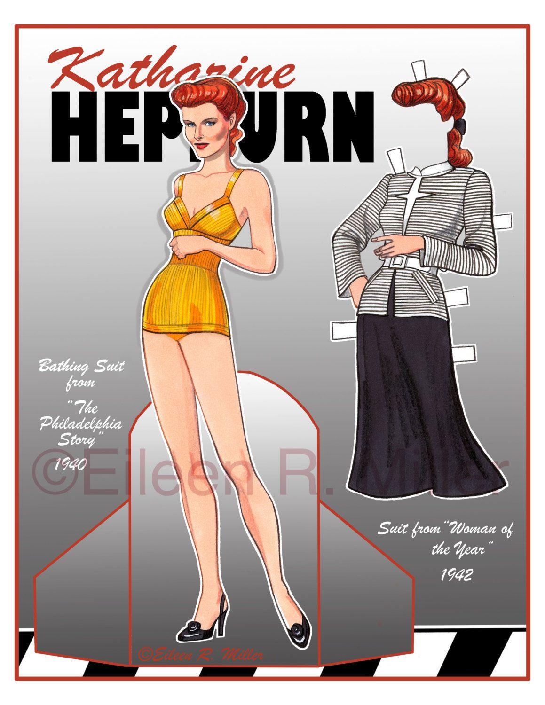 Katharine Hepburn Paper Doll
