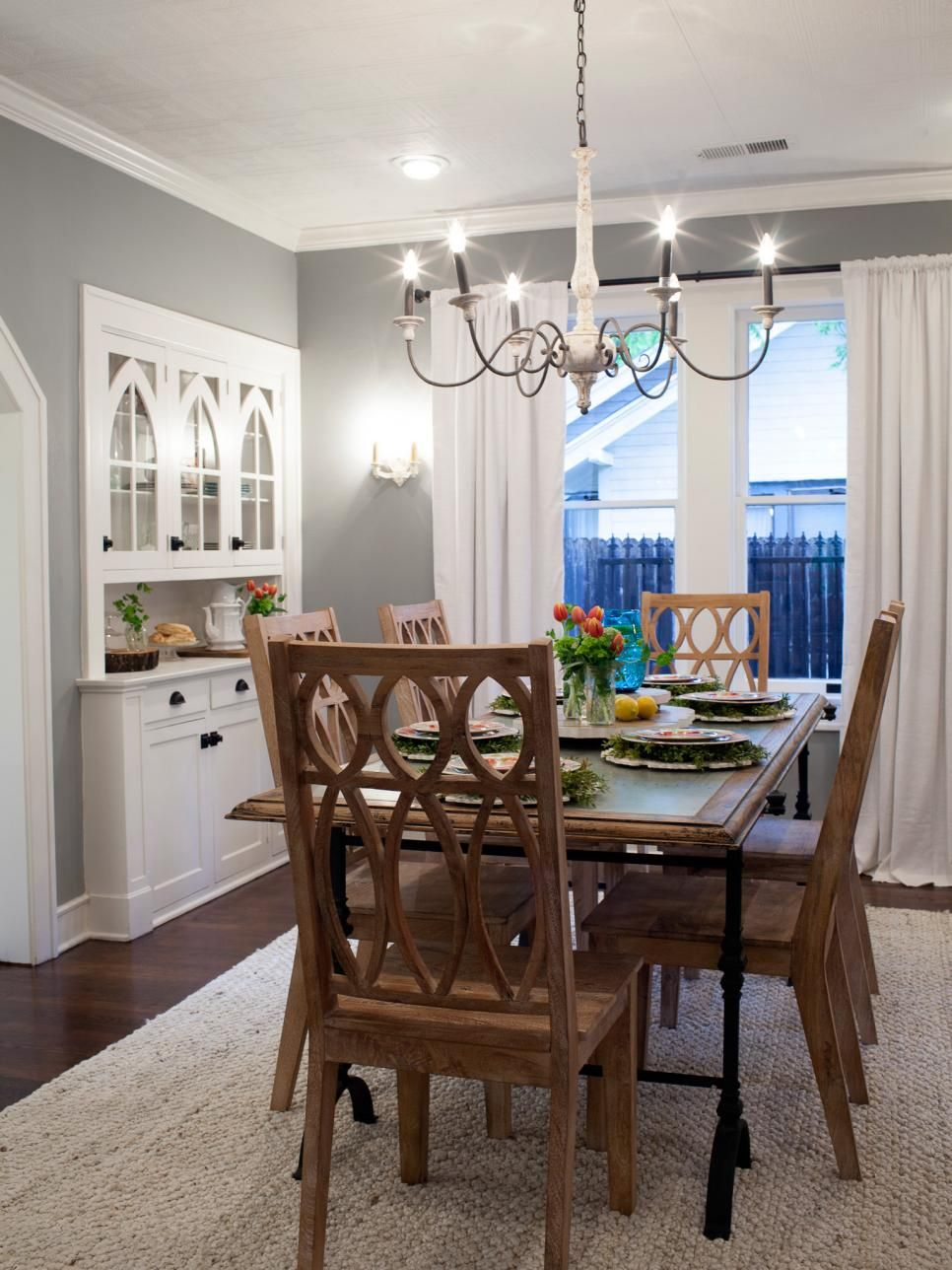 Fixer Upper Brick Cottage For Baylor Grads Dining Room Design