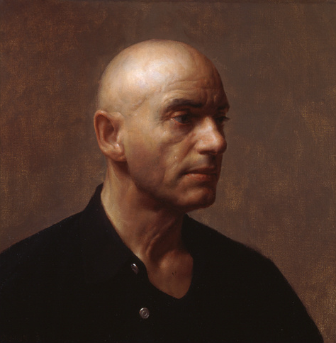 Jacob Collins - Gerard, Oil on Linen 16'' x 16'' inches, 2002
