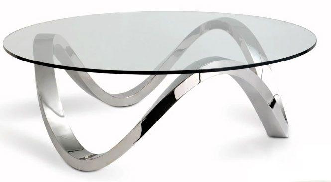 Awesome Elegance Glass U0026 Chrome Wave Base Coffee Table [BRCH_Rollercoaster]    £945.00 : Basic