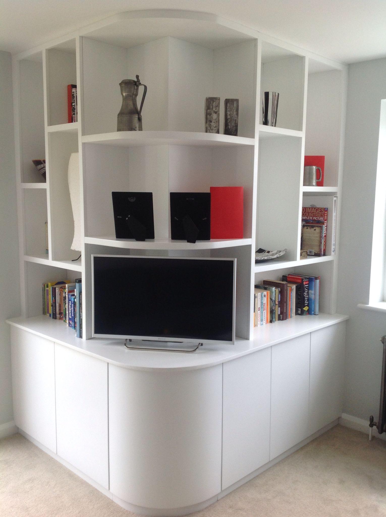Our new custom built external corner shelving unit we are loving it