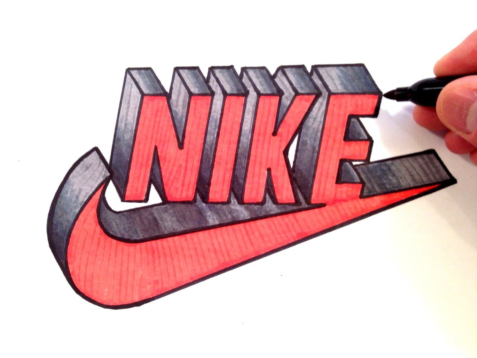 How to Draw Nike Logo in 3D - Best on Youtube - YouTube