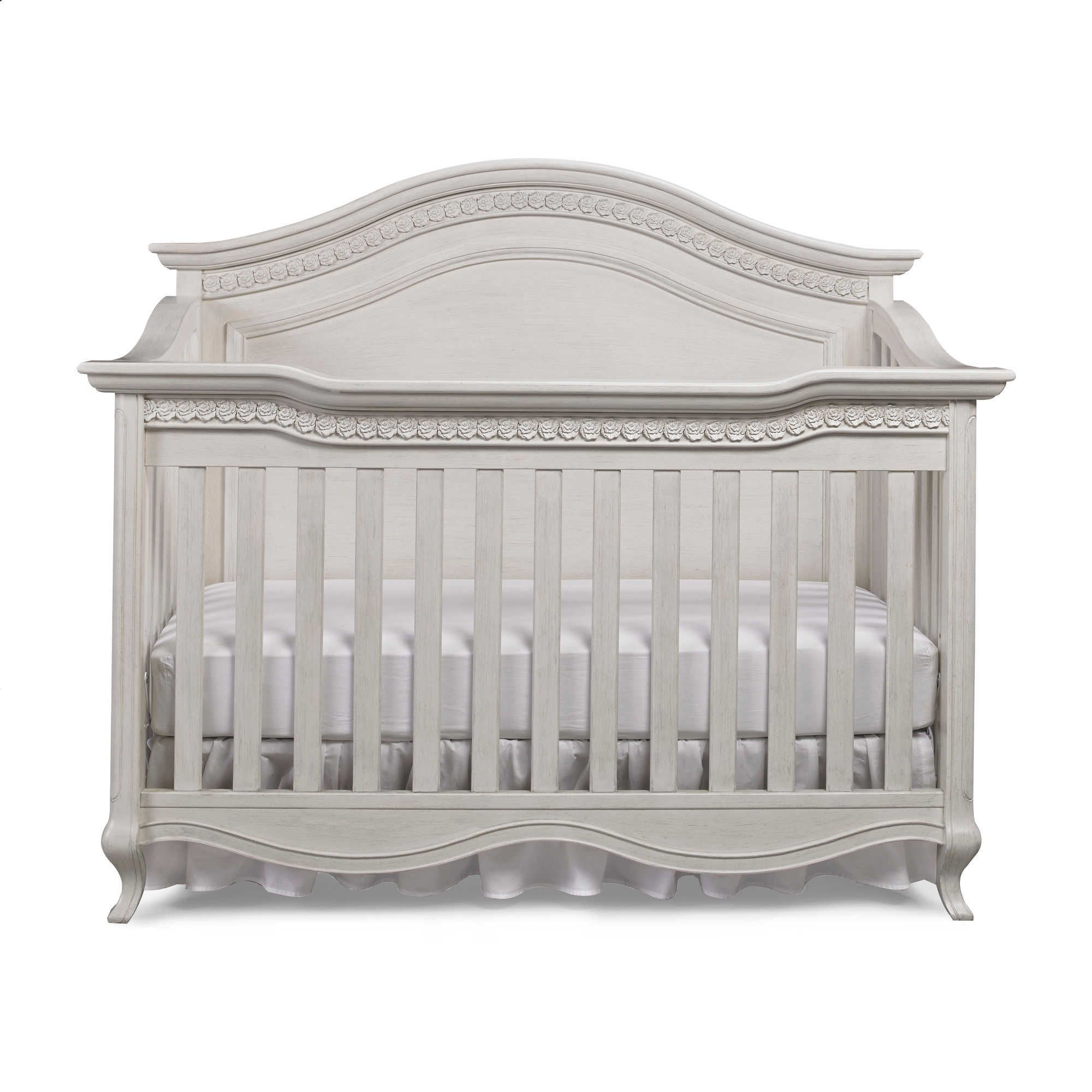 Crib for sale gatineau - Bel Amore Lyla Rose 4 In 1 Convertible Crib In White Willow