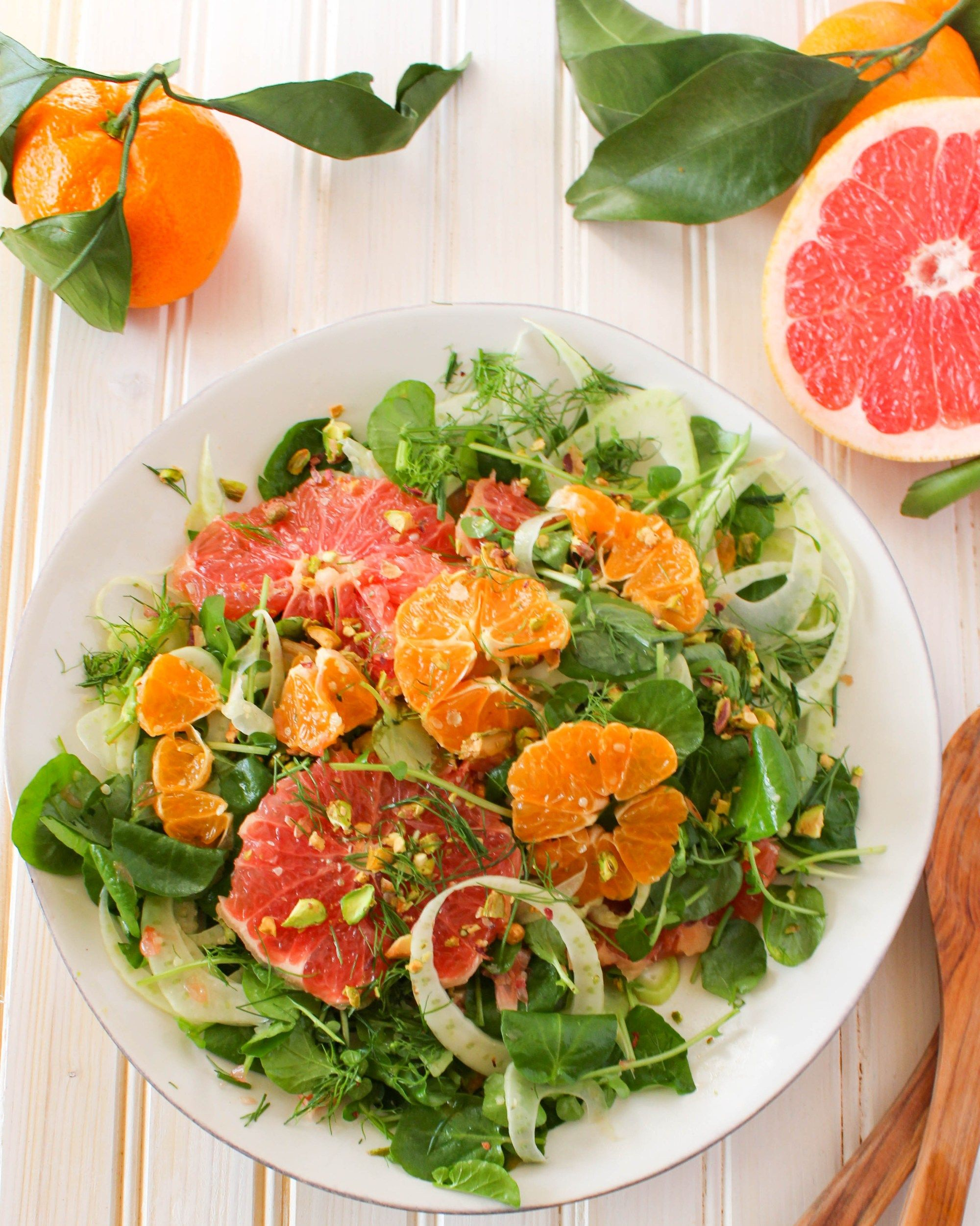 Winter Citrus Salad With Watercress Fennel Pistachios