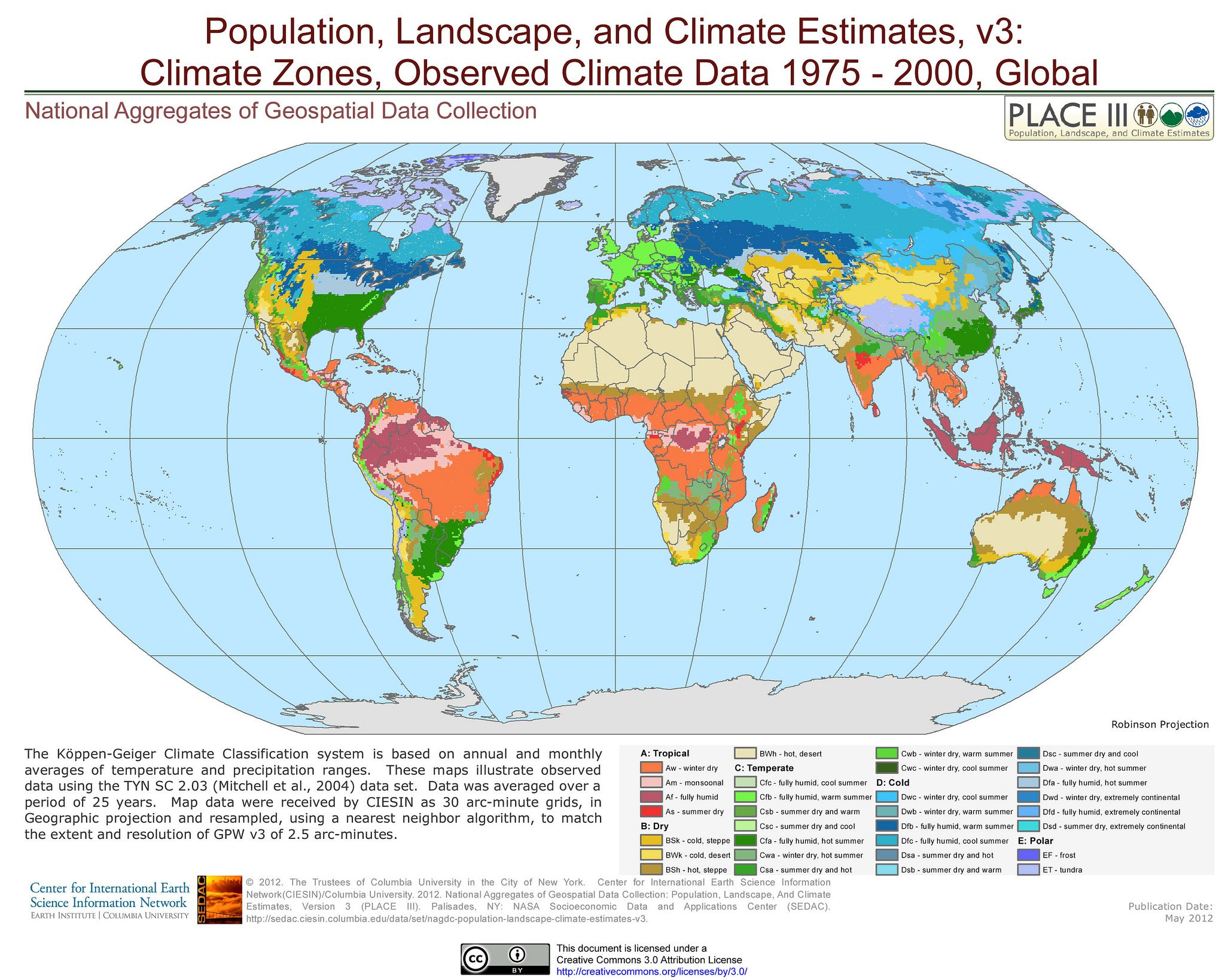 Climate Zones Observed Climate Data