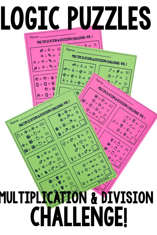 Math Logic Puzzles Multiplication Division Vol1 Logic Problems