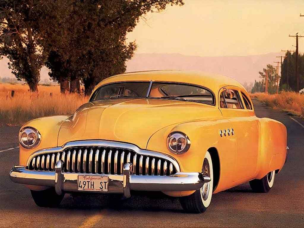 Classic Orange Gangster Car