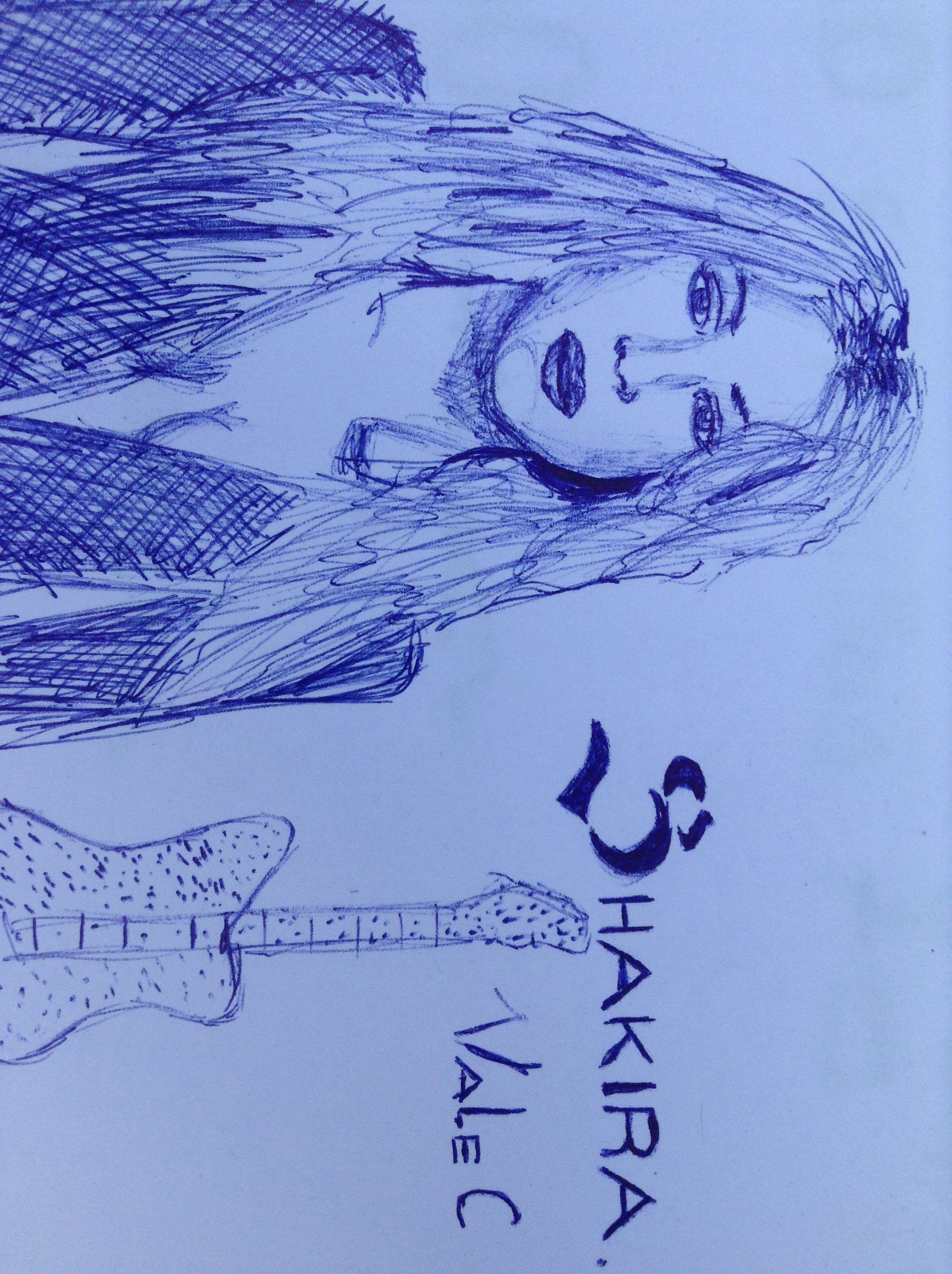 Shakira a lapicera