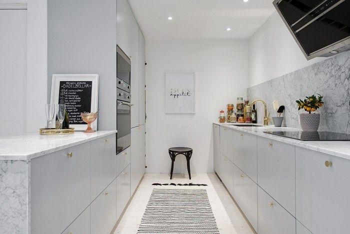 offene küche in weiß trennen Küche Möbel - Küchen - Kücheninsel - schöner wohnen küchen