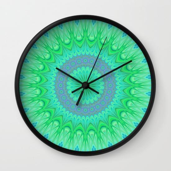 Clock, Crystal Mandala And Home Décor