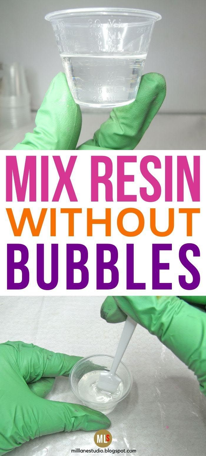 Photo of The SIMPLE FIX to eliminate bubbles when you're mixing resin