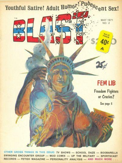 1971 Shazam Award, Outstanding New Talent: (tie)Michael Kaluta,Richard Corben  Kaluta cover for Blast (G. & D. Publications, Inc., 1971 series) #2