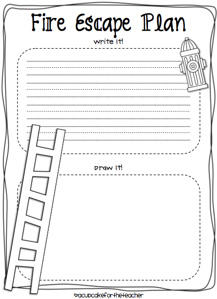 Worksheets Free Fire Safety Worksheets a cupcake for the teacher fire safety plus freebie freebie