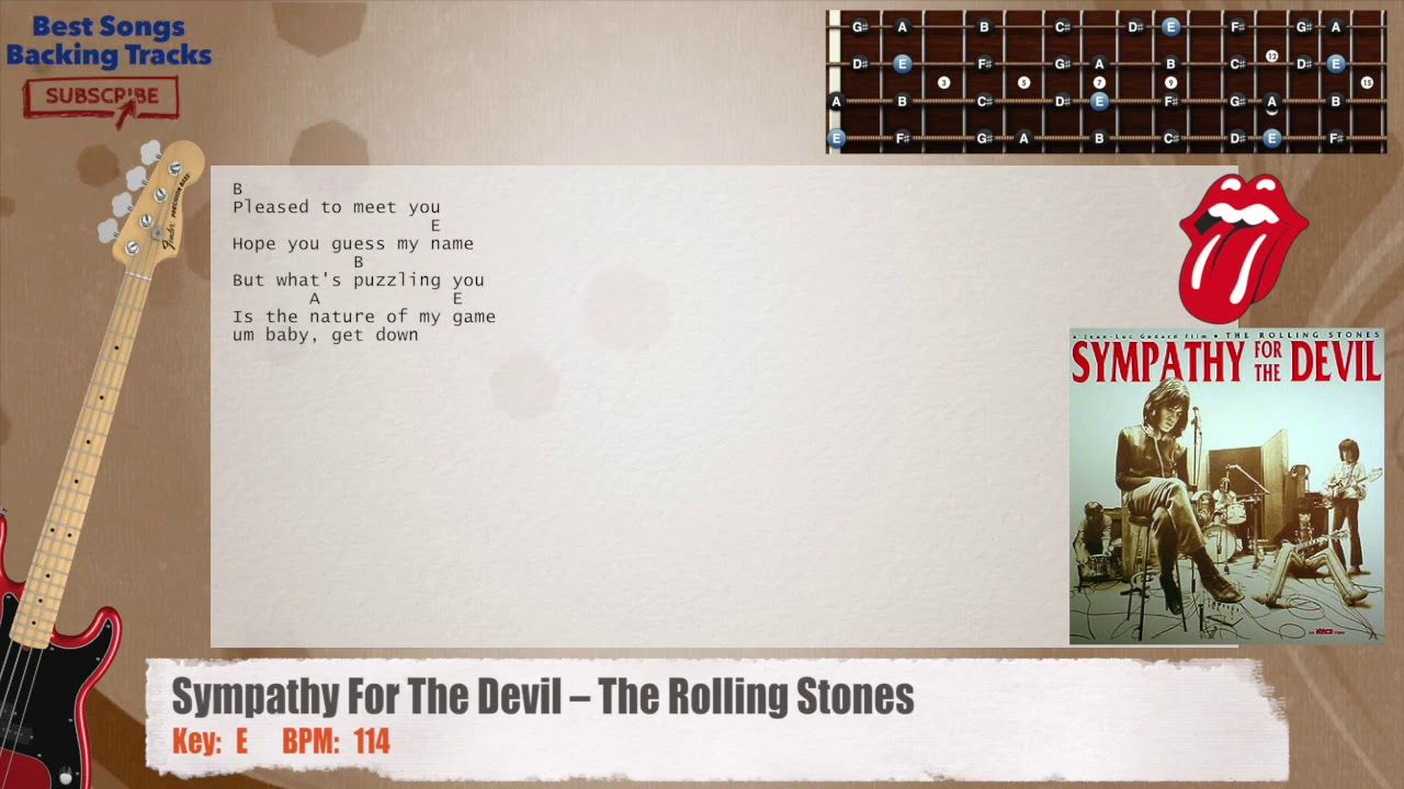 Sympathy For The Devil The Rolling Stones Bass Backing Track With