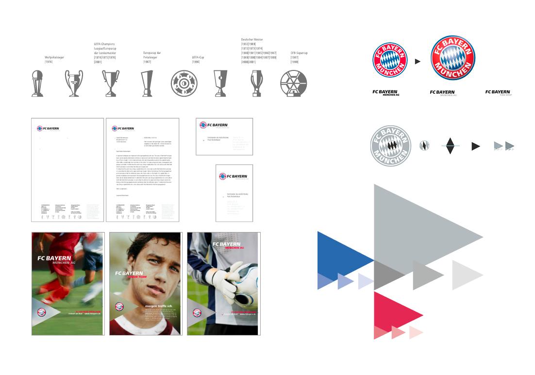 Corporate Design For Bayern Munchen By Nulleins Berlin Gestalter Munchen