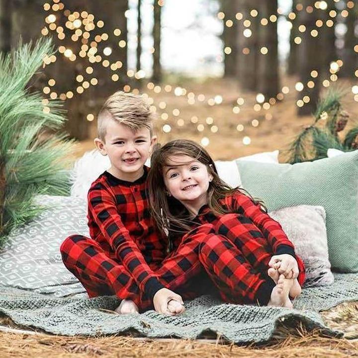 Funny Matching Family Christmas Pajamas Buffalo Plaid