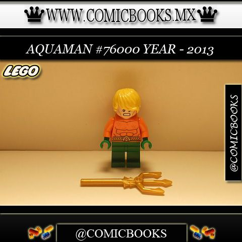 Aquaman from LEGO set #76000 You can buy this LEGO toy at: www.comicbooks.mx Also follow us on Instagram: comicbooks, sundaycomics and sportscards