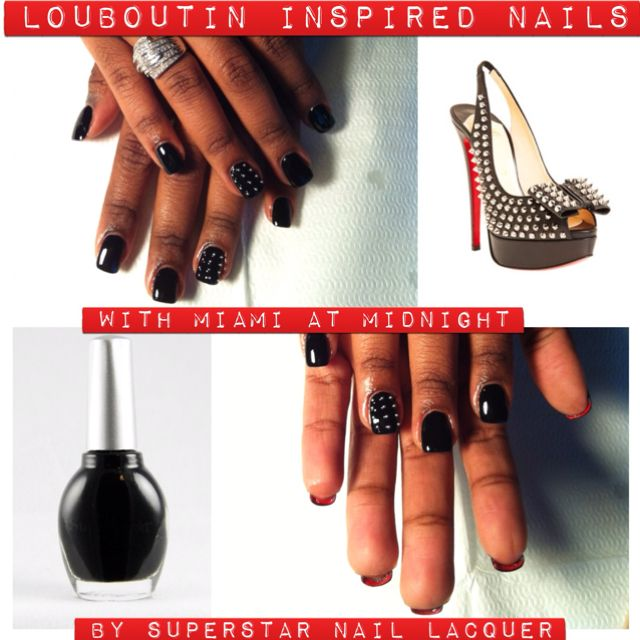 Louboutin inspired nails. Miami at Midnight by Superstar Nail ...