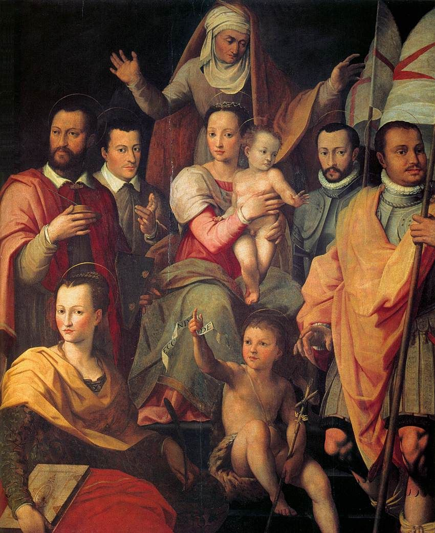 Portrait Of The The Medici Family Done In 1575 By