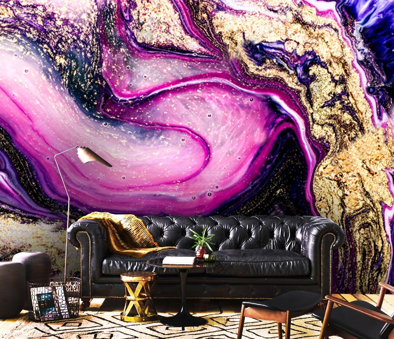 Wallpaperadhesive Vinylpurple Gold Sparklesremovablerose Etsy Vinyl Wallpaper Wallpaper Marble Art
