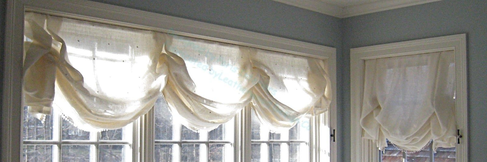 Relaxed Roman Shade On Triple Window For Nanas Room Relaxed Roman Shade New Homes Family Room