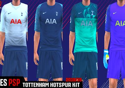 a5a0e4b1f Tottenham Hotspur 18 19 Kits - PES PSP (PPSSPP)
