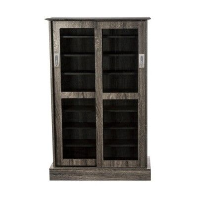 Driffield Media Storage Cabinet Charcoal Gray Atlantic Media