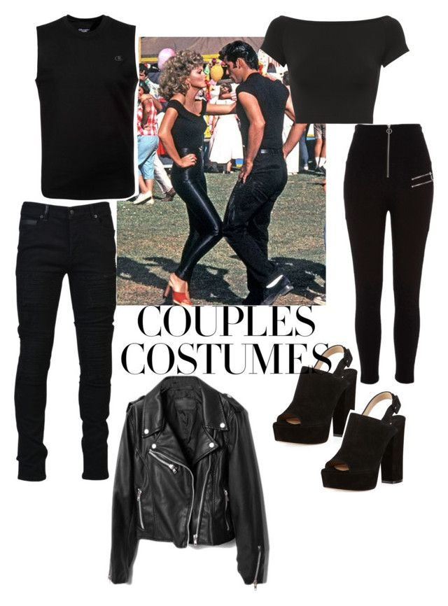 """couples custumes"" by lucydamiani ❤ liked on Polyvore featuring Paul Andrew, Helmut Lang, River Island, Marcelo Burlon and Champion"