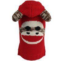 Amazon Com Worthy Dog Sock Monkey Hooded Dog Sweater Pet