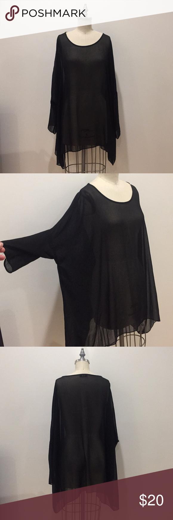 Sheer black dress cover up My Posh Picks Pinterest