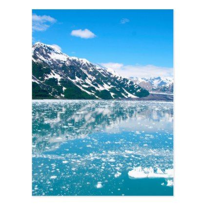 Abstract blue mountains landscape ice Alaska Postcard - postcard post card postcards unique diy cyo customize personalize