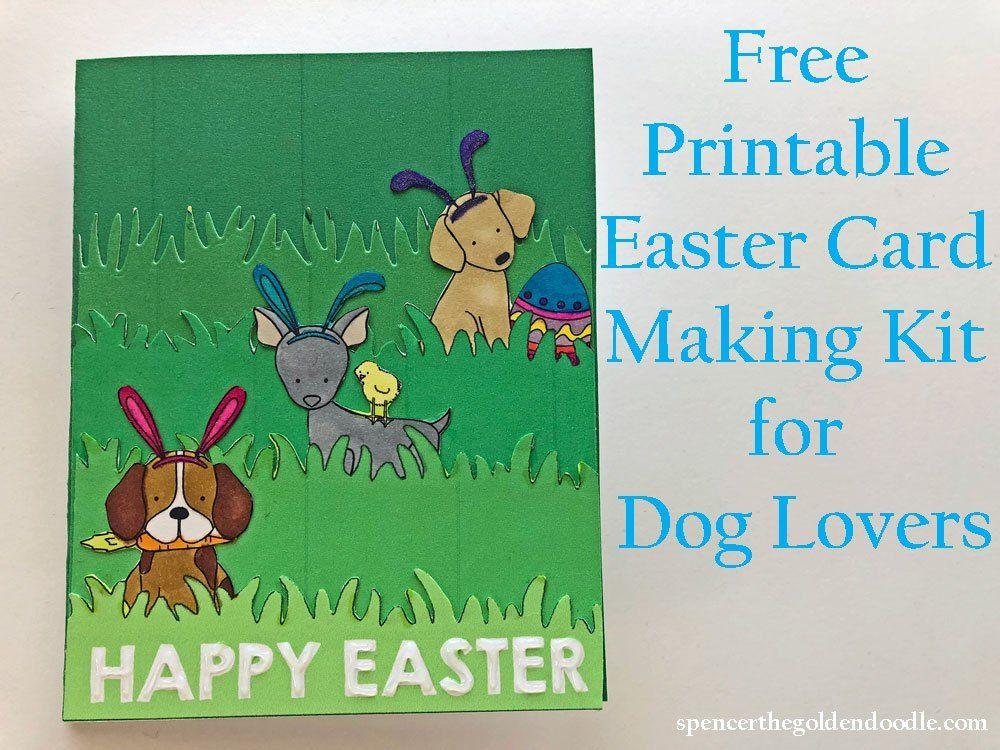 Easter diy card card making kits easter printables free