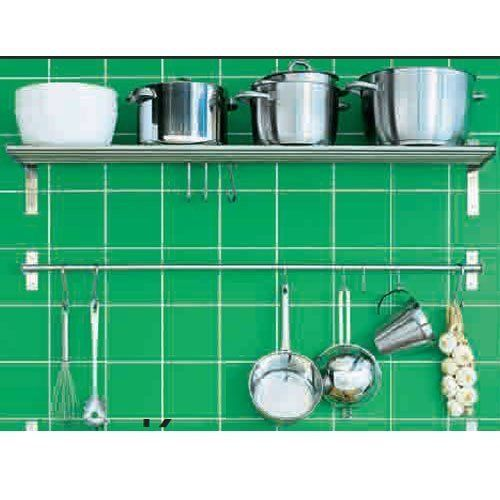 Amazing Ikea Grundtal Kitchen Shelf Rail And Hooks Set Stainless
