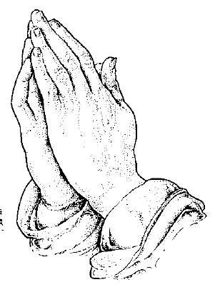 Coloring Page Of Praying Hands To Children To Draw Colors Download