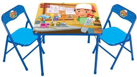 Amazon Com Kids Only Activity Table Set Handy Manny Toys