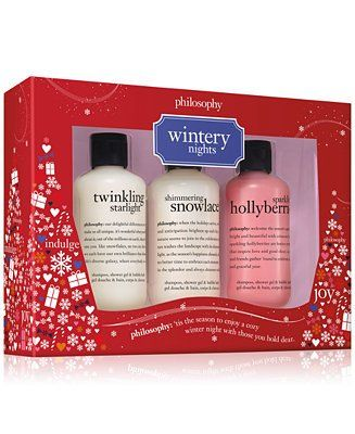 Philosophy 3 Pc Wintery Nights Gift Set Created For Macy S Reviews Skin Care Beauty Macy S Philosophy Fresh Cream Philosophy Fresh Cream